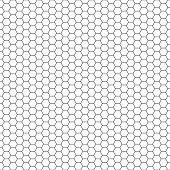 Honeycomb seamless pattern. Hexagonal net ornament
