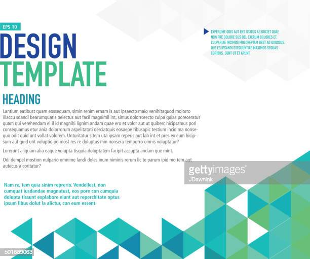 Horizontal blue presentation template with sample text layout