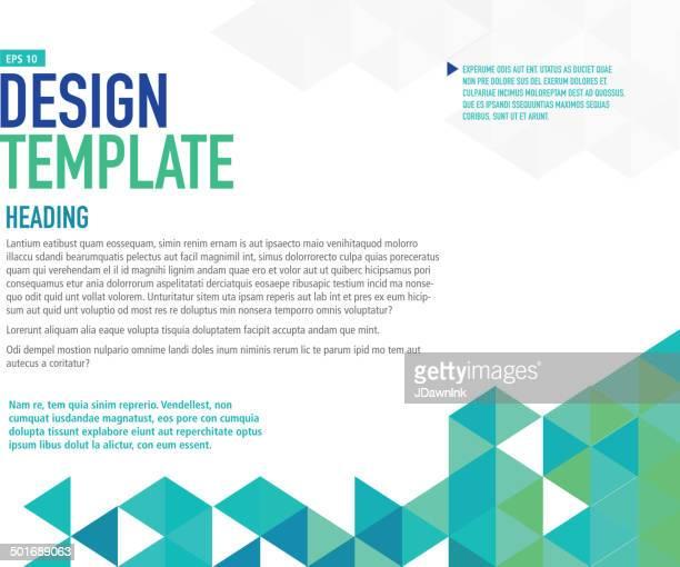 Blu orizzontale modello di presentazione con testo di esempio di layout