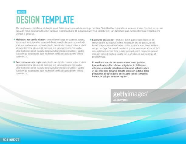 Progettazione modello di layout orizzontali con blu e giallo campione flyer