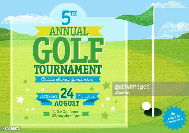 Horizontal Golf tournament invitation design template