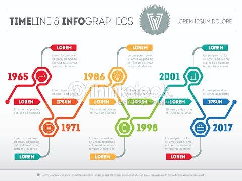 horizontal infographic timelines vector web template vector art