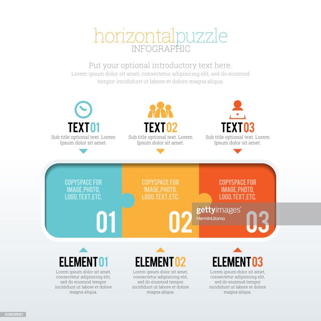 Horizontal'Puzzle' : Arte vetorial