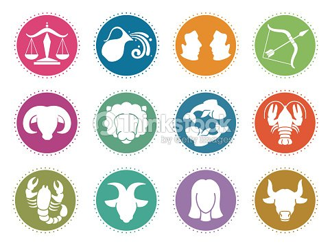 Horoscope Zodiac Vector Signs Astrology Symbols Set Vector Art