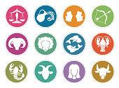 Horoscope zodiac vector signs. Astrology symbols set scorpio and gemini, aquarius and libra, capricorn and pisces illustration