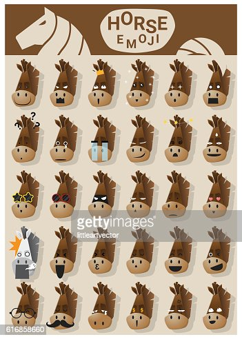 Horse emoji icons : Vector Art