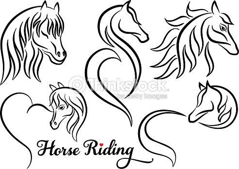 Kleurplaten Van Paarden En Pony 39 Horse Riding Vector Set Stock Vector Thinkstock