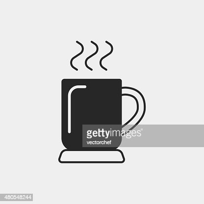 Ícone de café quente : Arte vetorial