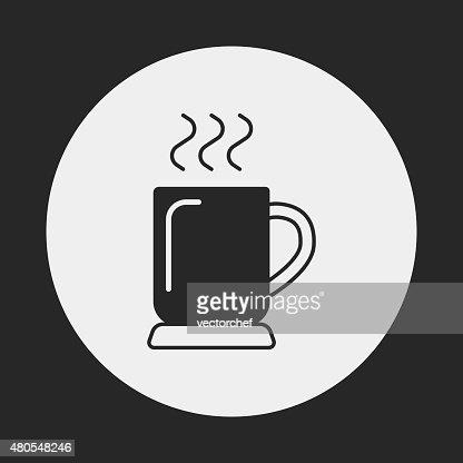 Icono de café caliente : Arte vectorial