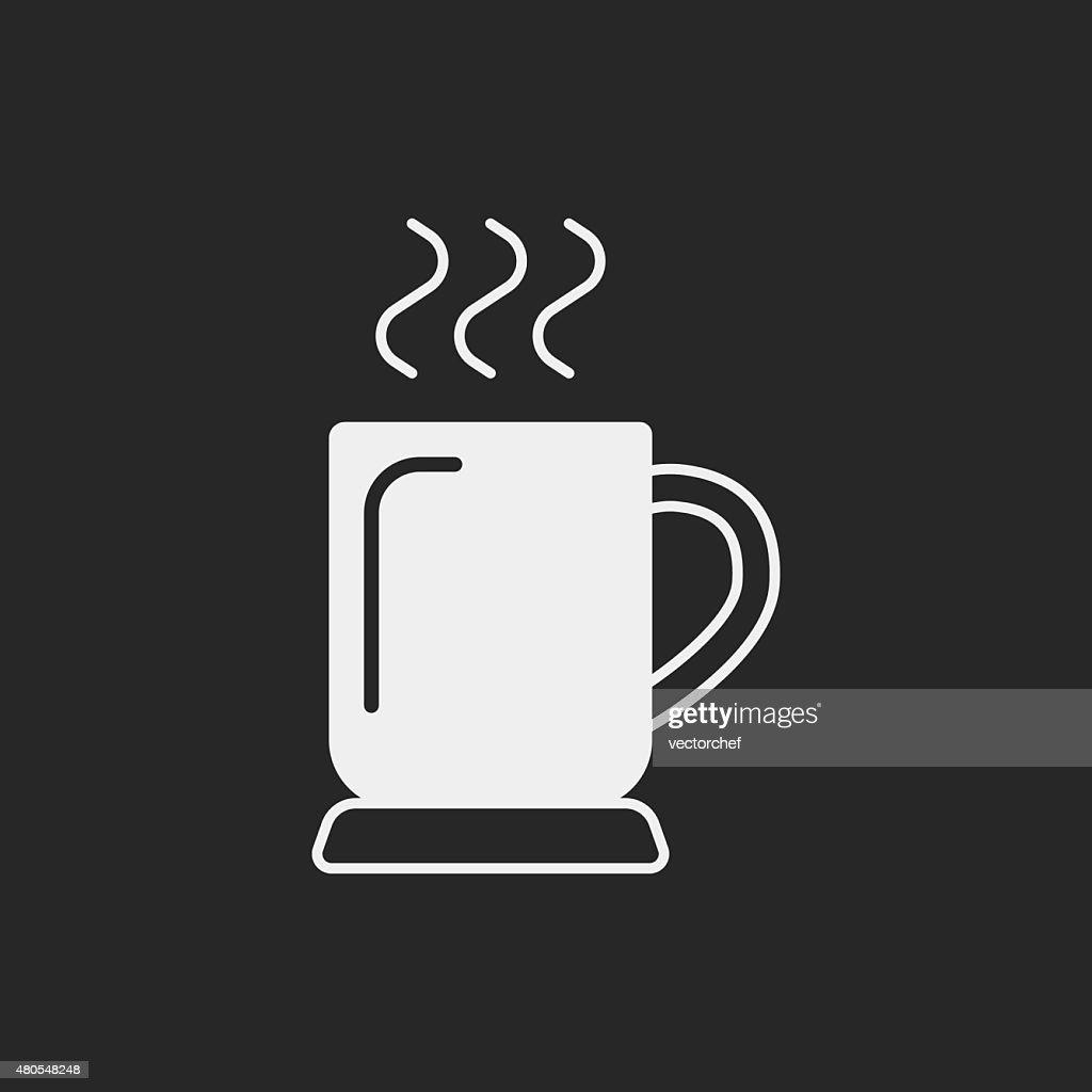 hot coffee icon : Vector Art