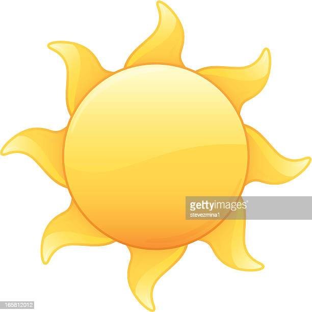Hot Radiant Yellow Summer Sun Vector Illustration