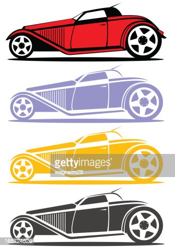 hot rod side view vector art getty images. Black Bedroom Furniture Sets. Home Design Ideas