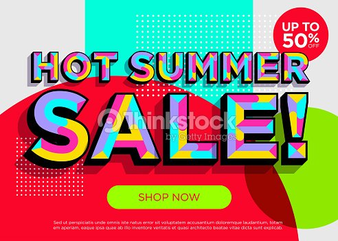 Bright Colorful Special Offer Concept Trendy Geometric Background Mosaic Style Vibrant Poster Template Symbol Summer Promotion