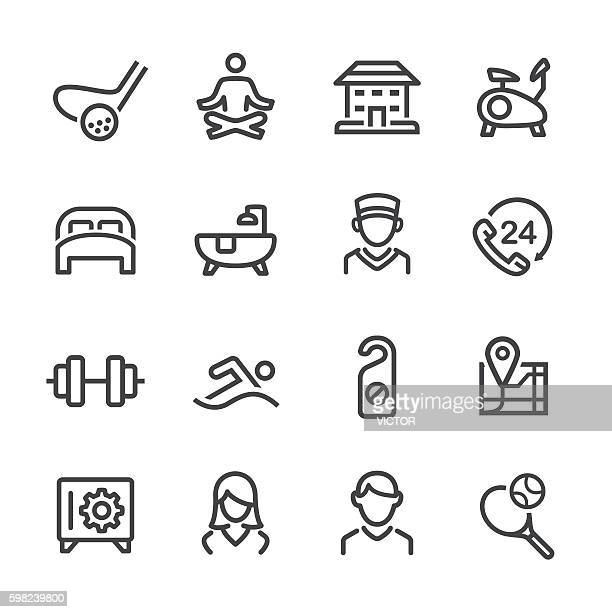 Hotel and Services Icons Set - Line Series