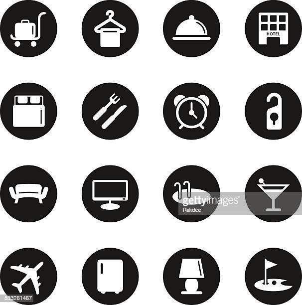 Iconos Hotel Set 1-círculo negro serie