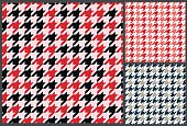 houndstooth seamless pattern, textile retro design for clothes
