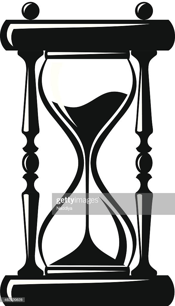 hourglass vector black silhouette vector art thinkstock rh thinkstockphotos com hourglass vector png hourglass vector image free