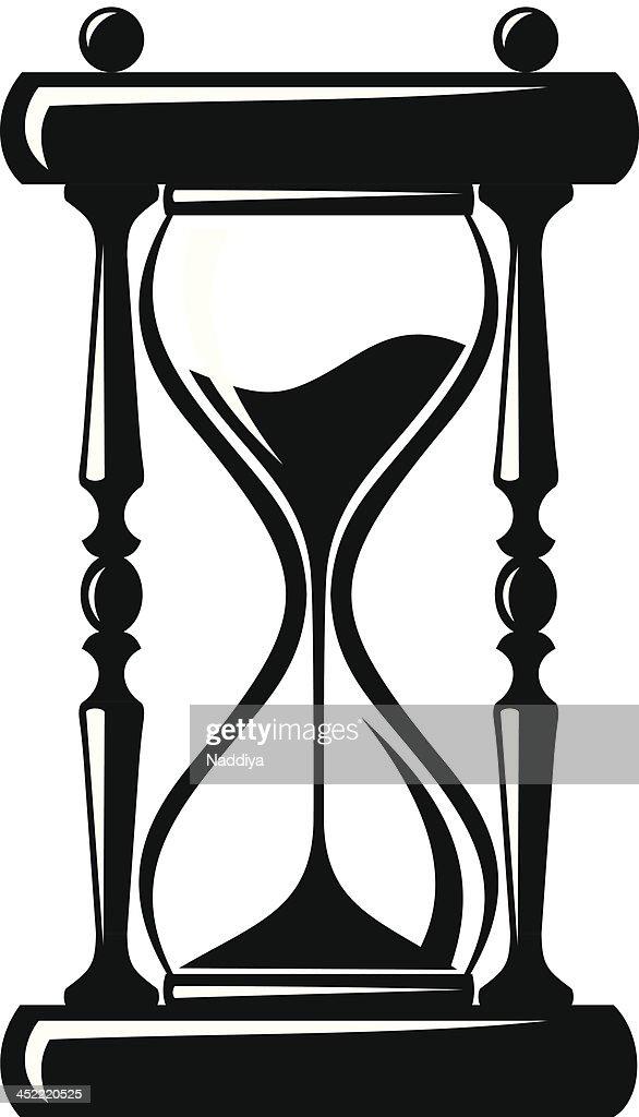 hourglass vector black silhouette vector art thinkstock rh thinkstockphotos com hourglass vector art hourglass vector icon