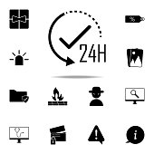 24 hours work icon. web icons universal set for web and mobile on white background