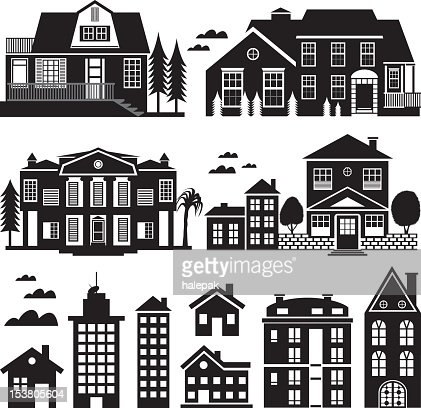black and white apartment building clip art. Keywords  Apartment Architecture Bed and Breakfast Black And White Color Building Exterior 3d House Icons Vector Art Getty Images