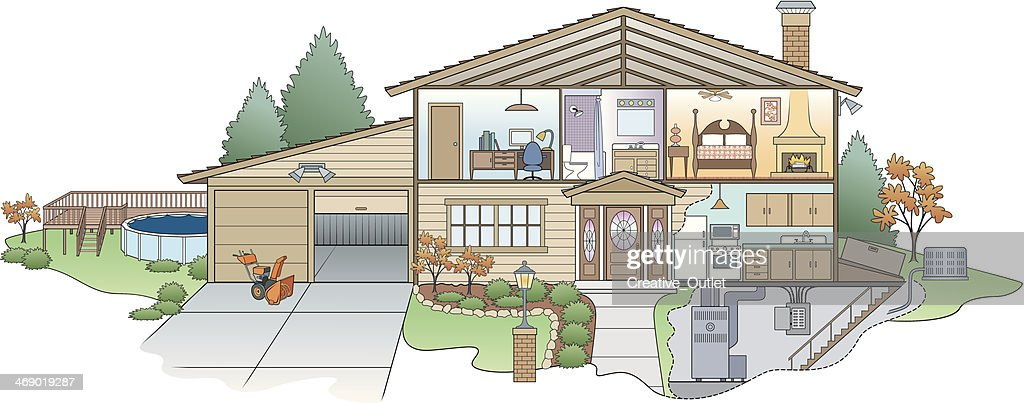 house diagram vector id469019287?s=170667a house diagram vector art getty images house diagram at cos-gaming.co