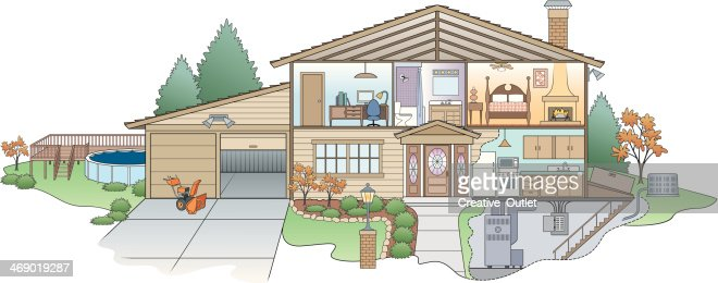 House Diagram Vector Art