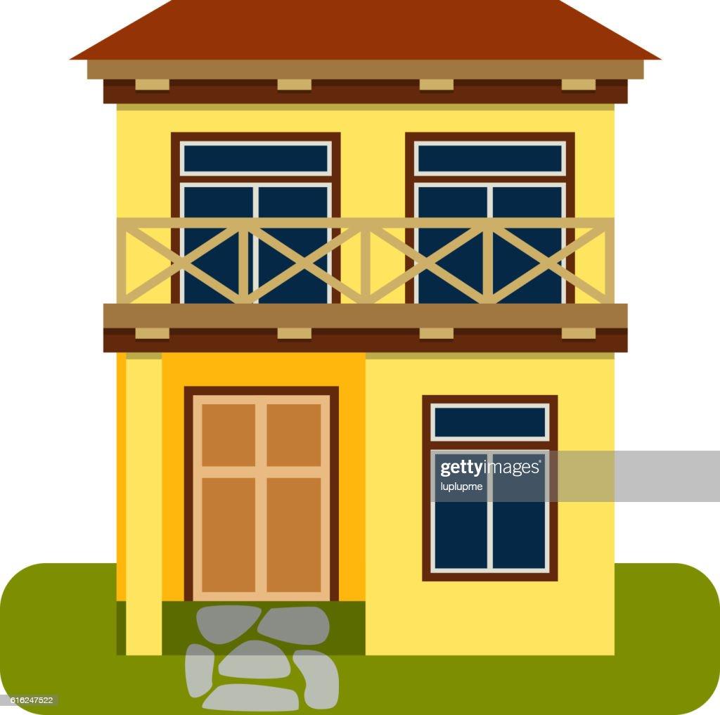 House front view vector illustration : Arte vetorial