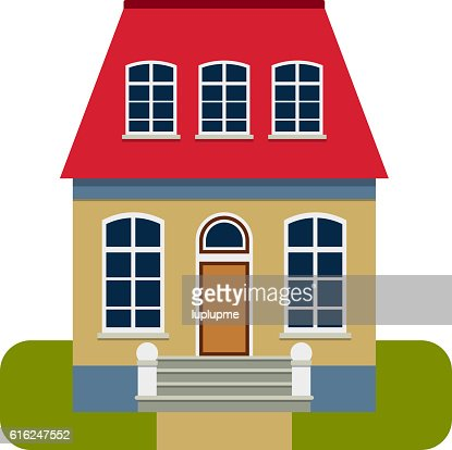 House front view vector illustration : Vector Art
