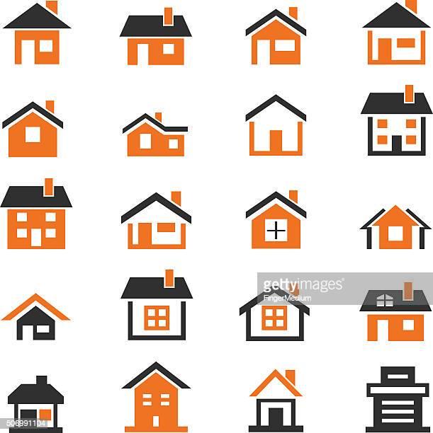 Conjunto de iconos de casa