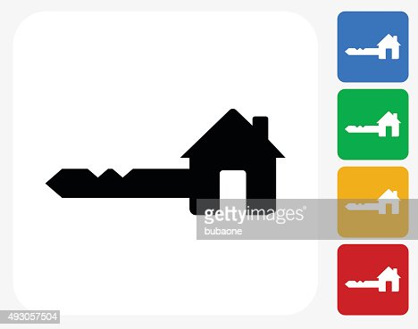 house key icon flat graphic design vector art getty images