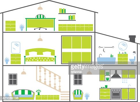 House Layout house layout vector art | getty images