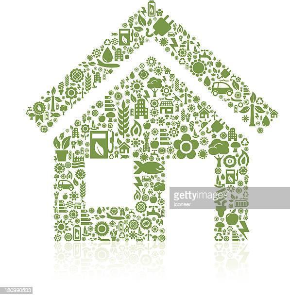 House made of ecology icons