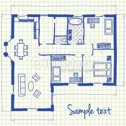 Casa de plan garabato arte vectorial thinkstock for Planner arredamento