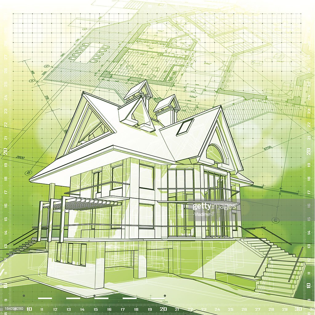house plans green bokeh background vector art getty images