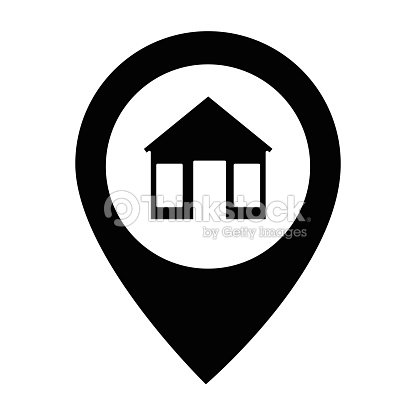 house silhouette in point location vector art thinkstock