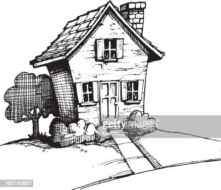 Illustrations et dessins anim s de maison de campagne - Dessin maison de campagne ...