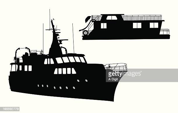 Houseboat Vector Art And Graphics Getty Images - Houseboats graphics