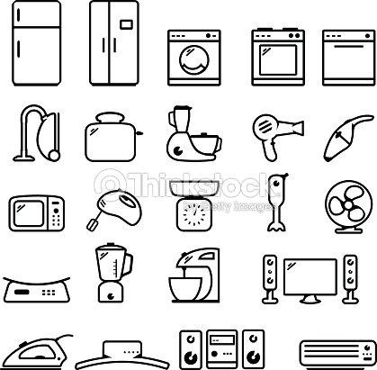 Icona set di elettrodomestici arte vettoriale thinkstock - Immagini di elettrodomestici ...