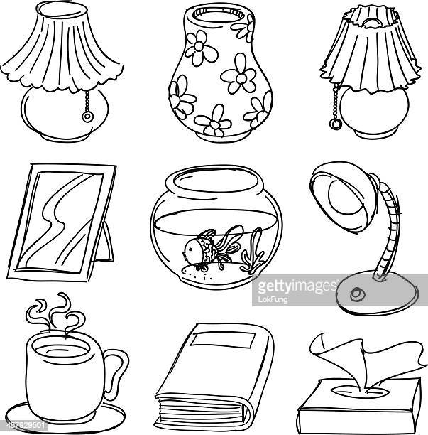 Household Equipment in black and white