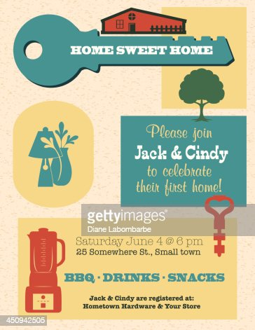 Housewarming Invitation Template Vector Art | Getty Images