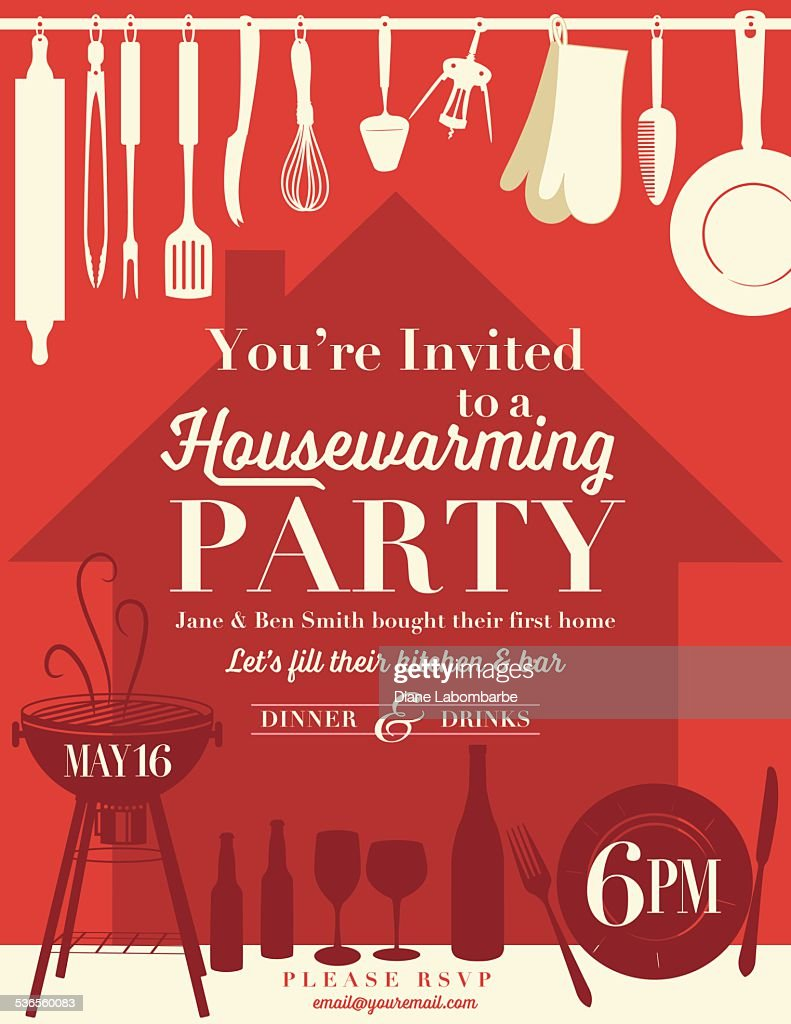 Housewarming Party Invitation Template Vector Art – Invitations for Housewarming Party