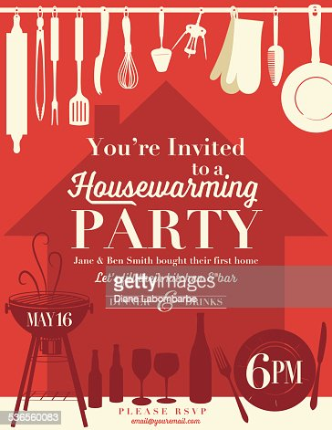 housewarming party invitation template vector art | getty images, Party invitations