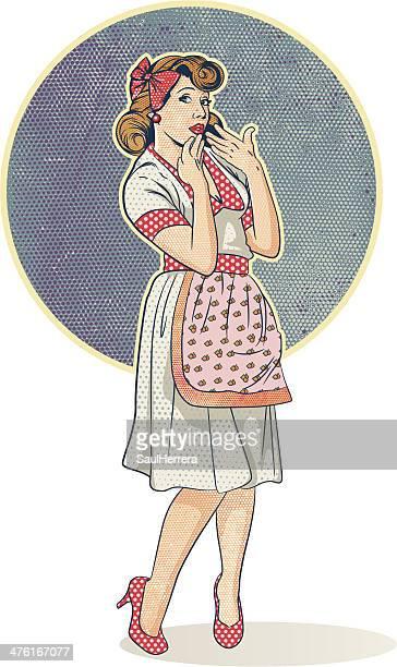 Femme de style rétro