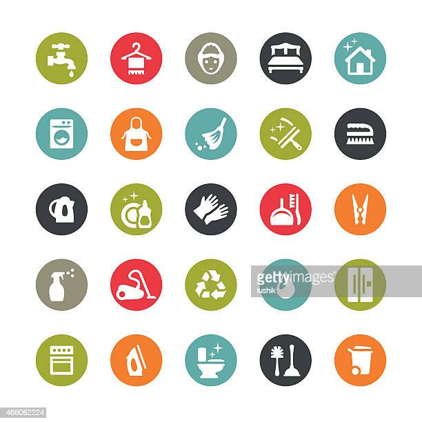Housework and Cleaning icons / Ringico series