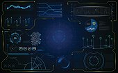 hud gui interface futuristic virtual system template EPS 10 vector