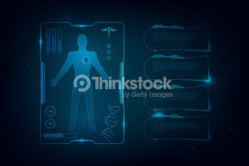 Hud Interface Virtual Hologram Future System Health Care Innovation Concept Background Vector Art