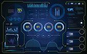 abstract hud ui gui future futuristic screen system virtual design background eps 10 vector