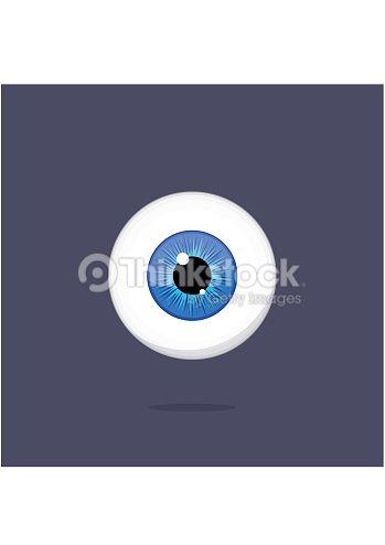 Human Blue Eye Isolated On Dark Background Eyeball Iris Pupil Vector