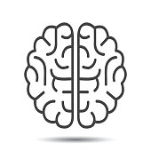 Human brain icon - stock vector