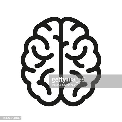 Human brain icon - vector : Vector Art
